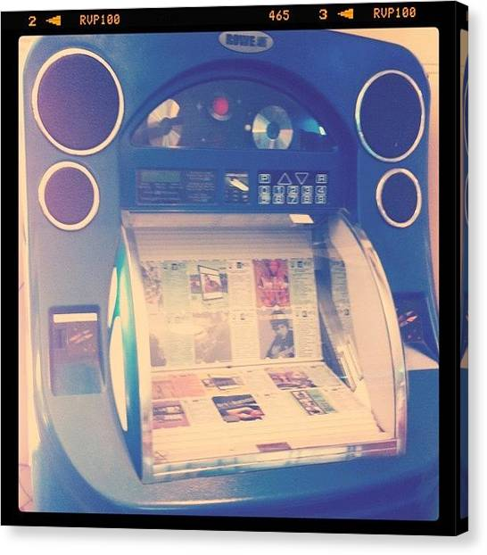 Jukebox Canvas Print - Le Musica by Bonnie Mulholland