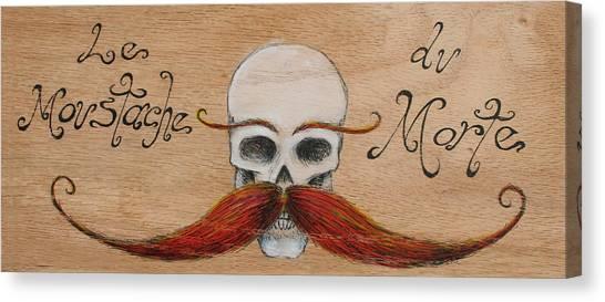 Le Mustache Du Morte Canvas Print by Canis Canon