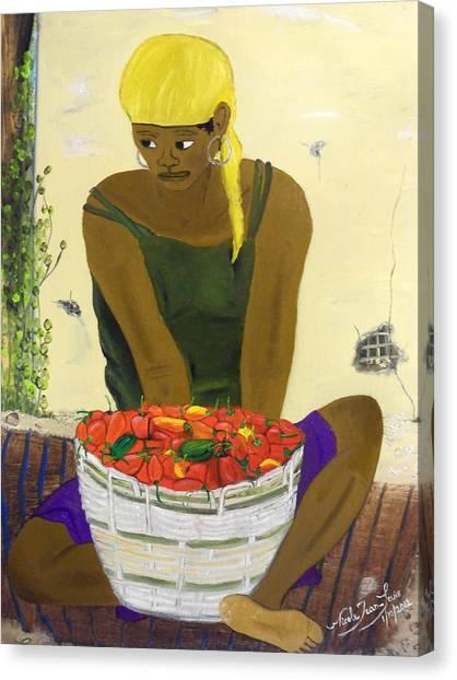 Le Piment Rouge D' Haiti Canvas Print