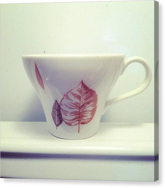Tea Leaves Canvas Print - Leaf Cup by Brittany Severn