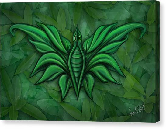 Leafy Bug Canvas Print by David Kyte