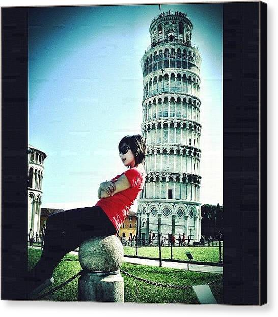 Hot Dogs Canvas Print - Leaning Tower Of Pisa by Kevin Pan