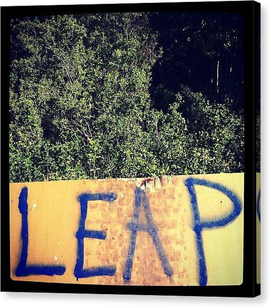 Dirt Bikes Canvas Print - Leap Of Faith #dirt-biking #death-wish by Sam Sana