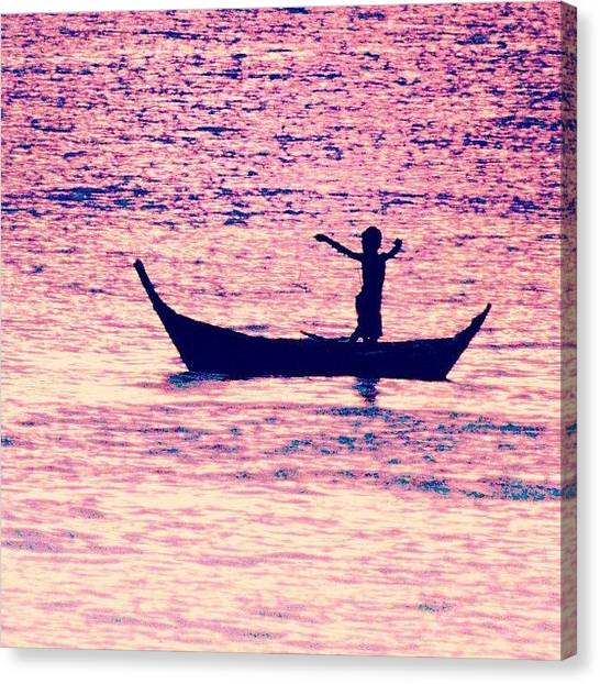 Travel Canvas Print - Learning To Fly.. #thailand #boat by A Rey