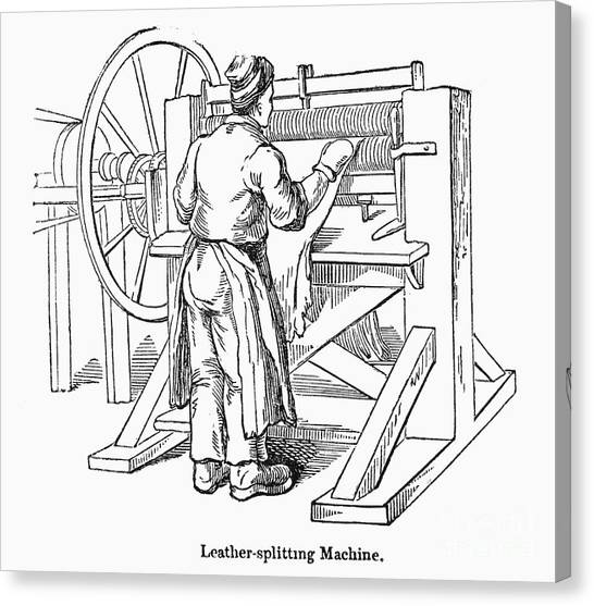 Leather Worker Canvas Prints