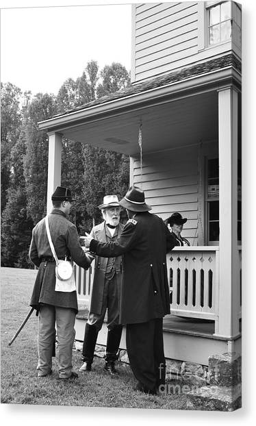 Civil War Site Canvas Print - Lee And Grant by Thomas R Fletcher