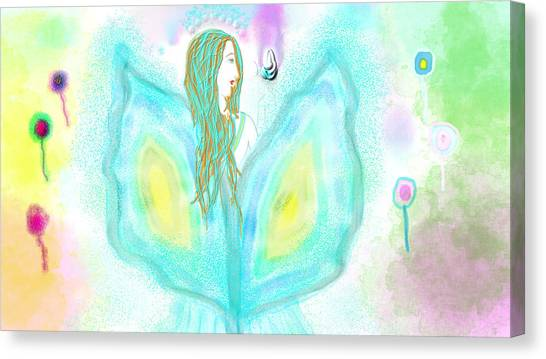 Leelavy Fairy / Fada Leelavy Canvas Print by Rosana Ortiz