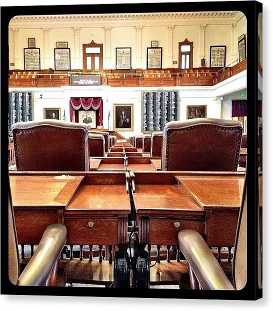 Offices Canvas Print - Legislative Desks by Natasha Marco