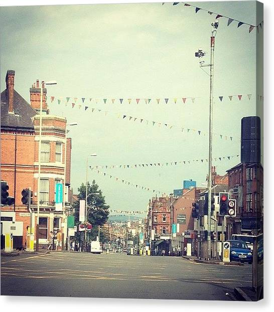 Traffic Canvas Print - Leicester by Emma Carpenter