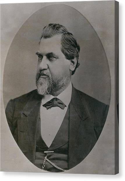 Leland Stanford 1824-1893 Was Drawn Canvas Print by Everett