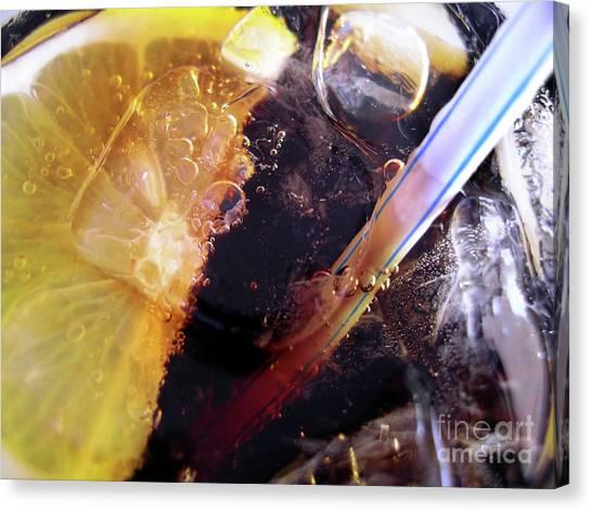 Bartender Canvas Print - Lemon And Straw by Carlos Caetano
