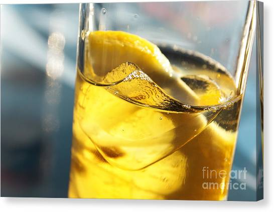 Iced Tea Canvas Print - Lemon Drink by Carlos Caetano