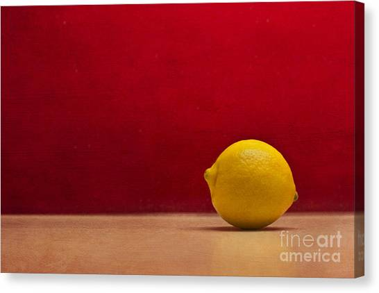Lemon Yellow And Tomatoe Red Canvas Print by Catherine MacBride