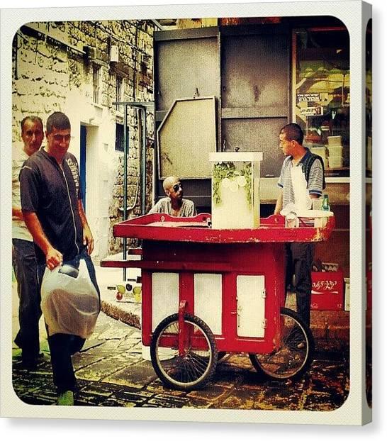 Lemons Canvas Print - Lemonade Seller  by Dorit Stern