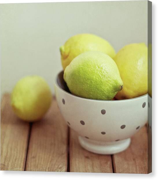 Lemons Canvas Print - Lemons In Bowl by Copyright Anna Nemoy(Xaomena)