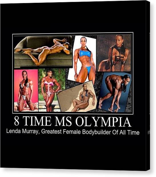 Erotic Canvas Print - Lenda Murray Ms Olympia  by Nigel Williams