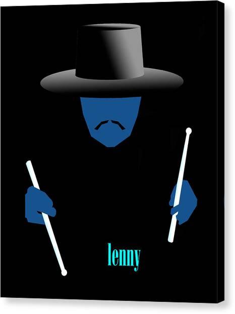 Lenny Blue Canvas Print by Victor Bailey