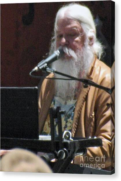 Leon Russell Canvas Print - Leon Russell by Gary Brandes