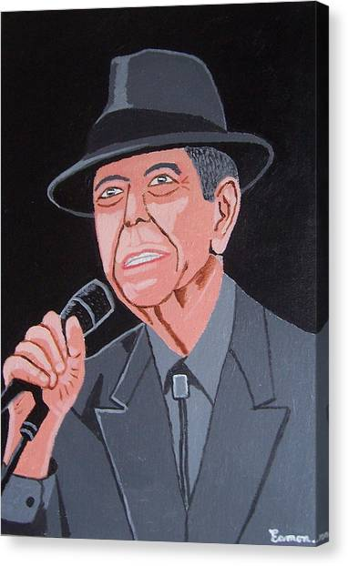 Leonard Cohen Canvas Print by Eamon Reilly