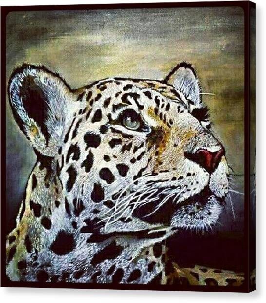 Realism Art Canvas Print - Leopard Painting I Did 16 × 20 Acrylic by Kyle StCroix