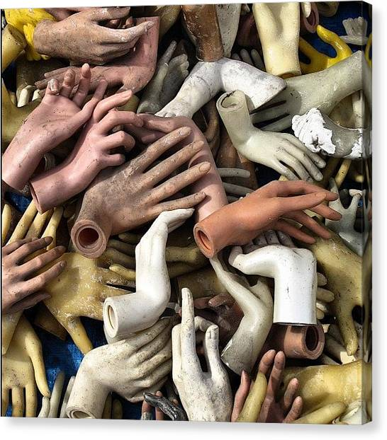 Hands Canvas Print - Les Mains #mains #hands #lillebraderie by Suzie Attaway