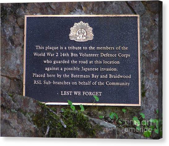 Lest We Forget Canvas Print by Joanne Kocwin
