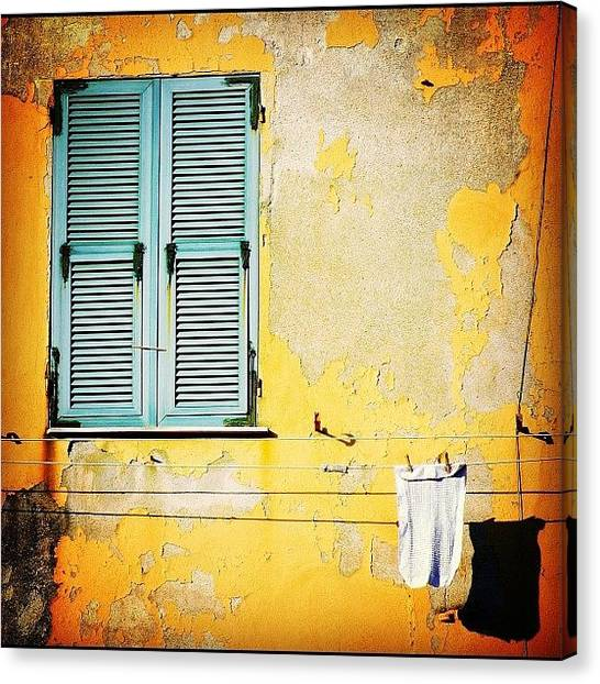 House Canvas Print - Let It All Hang Out #italy #wall by A Rey