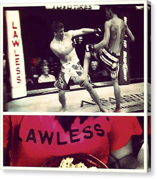 Popcorn Canvas Print - Let Me Be Hyped ... #lawless #8/29 #ufc by Bianca Q
