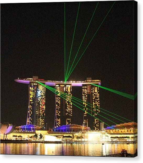 Om Canvas Print - Let The Show Begin... #marinabaysands by Om Bhatia