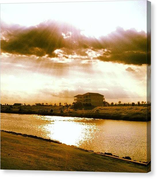 Golf Canvas Print - Let There Be Light by Lea Ward