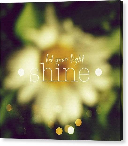Florals Canvas Print - Let Your Light Shine.✨ Daisy Edit by Traci Beeson