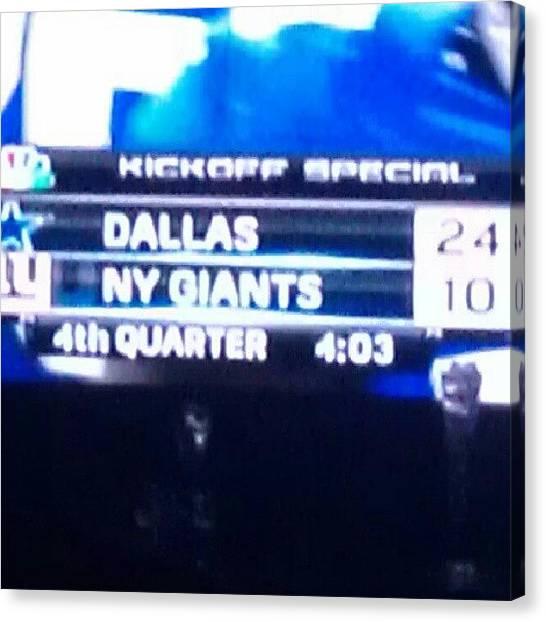 Football Teams Canvas Print - Let's Go Dallas Cowboys!! My #favorite by Lunesta Walker