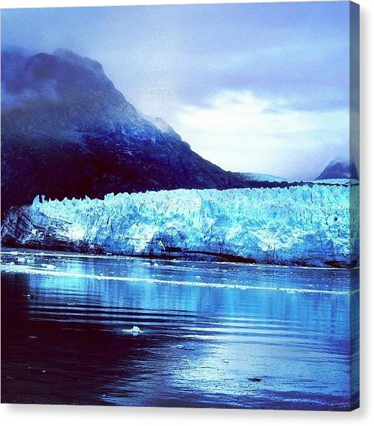 Glaciers Canvas Print - Let's Take A Breath, Jump Over The by Drew R