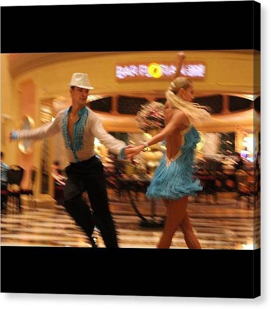 Salsa Canvas Print - #letsdance #dance #performers by Om Bhatia
