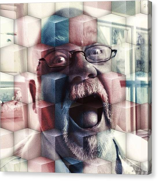 Iphone 4 Canvas Print - Lew Cubed - Crazy As Ever! #portrait by Photography By Boopero