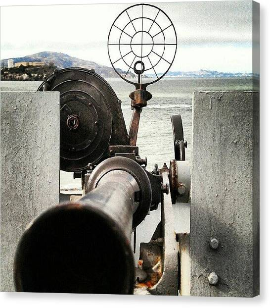 Battleship Canvas Print - Liberityship Gun by The Ambs