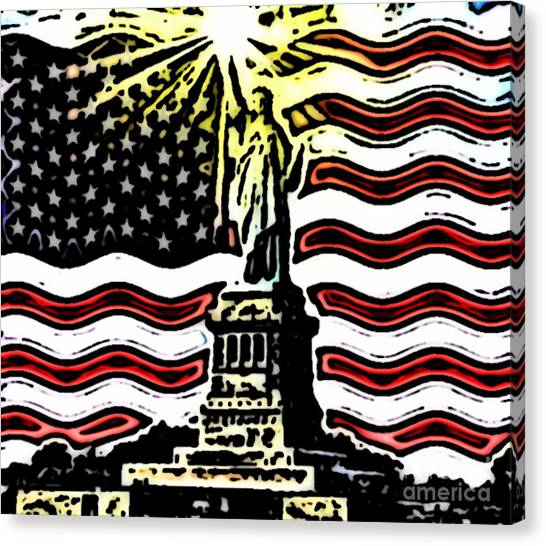 Liberty And Glory Canvas Print