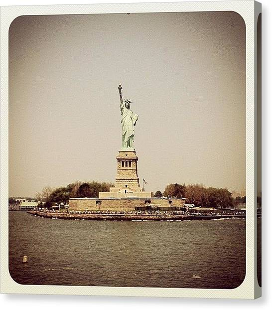 Statue Of Liberty Canvas Print - Liberty by Kristenelle Coronado