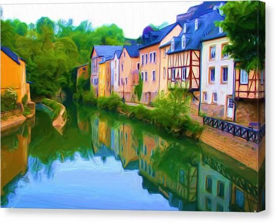 Life Along The Alzette River Canvas Print