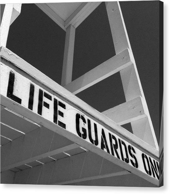 Lifeguard Canvas Print - Life Guard Chair No.2 by David Rondeau