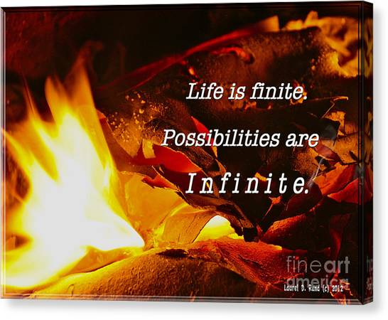 Life Is Finite Canvas Print