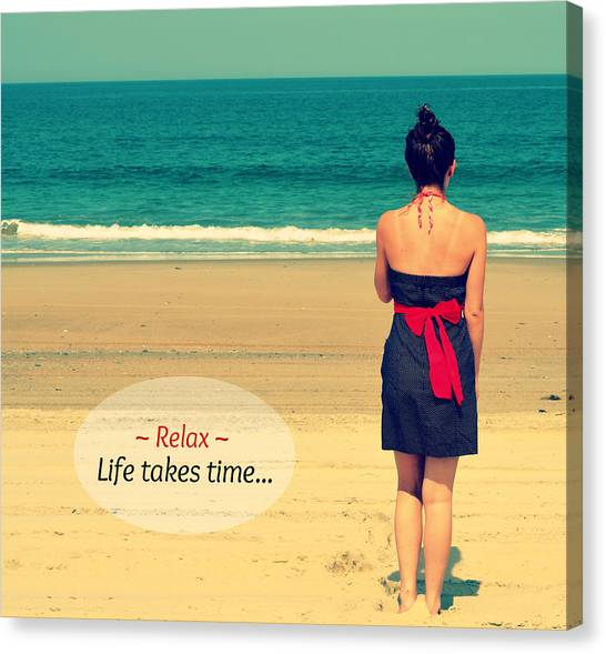 Life Takes Time Canvas Print