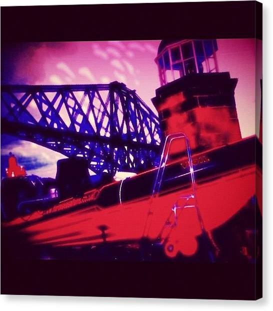 Lifeguard Canvas Print - Lifeboat At The Forth Road Bridge by Avril O