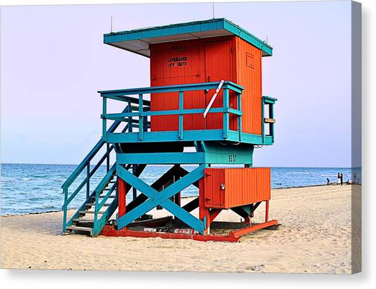 Lifeguard Tower Canvas Print by Andres LaBrada