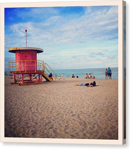 Lifeguard Canvas Print - Lifeguard Tower by Emily Black