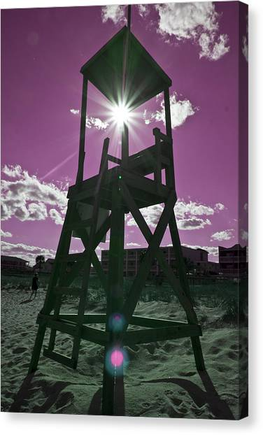 Lifeguard Canvas Print - Lifeguard Tower II by Betsy Knapp