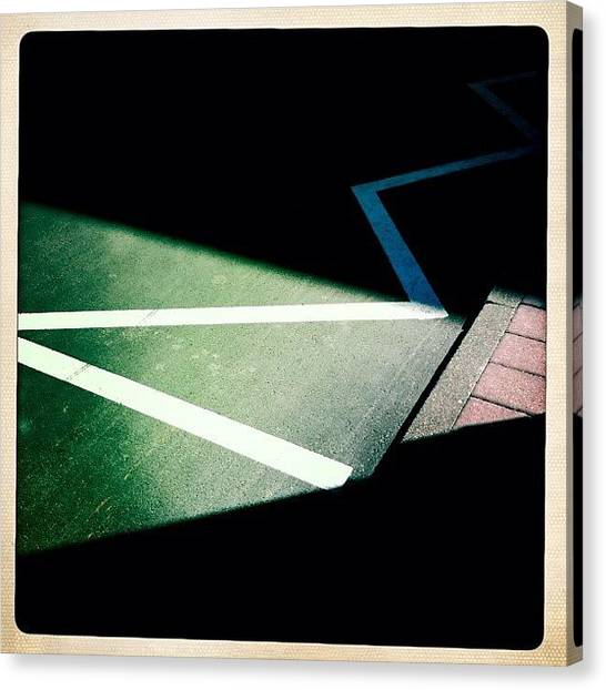 Geometric Canvas Print - Light And Shadow Triangles by Matthias Hauser