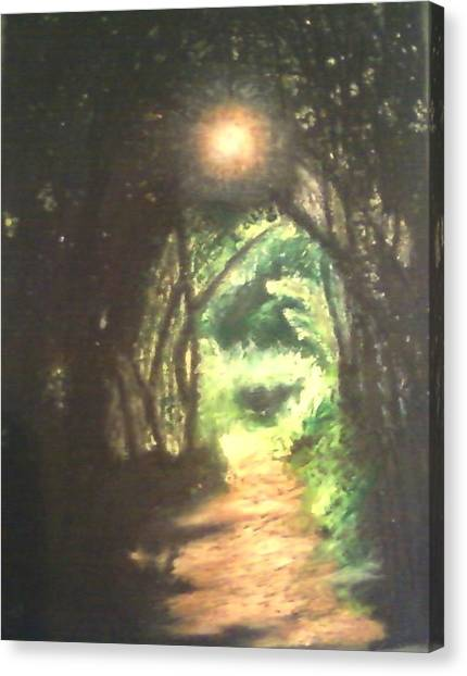 Light At The End Of The Trail Canvas Print by Samuel McMullen