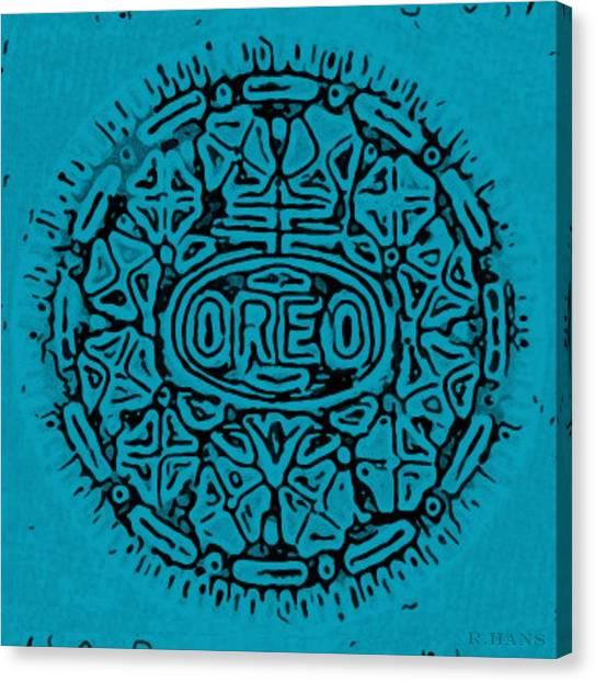 Nabisco Canvas Print - Light Blue Oreo by Rob Hans