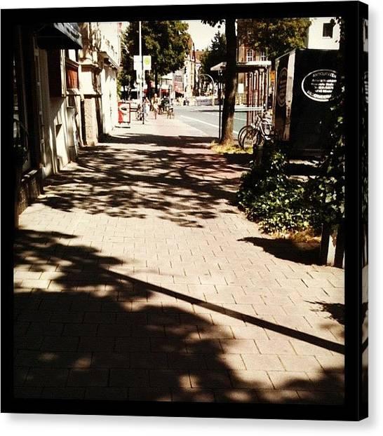 Street Scenes Canvas Print - Light Colors Shadows by Wondereye